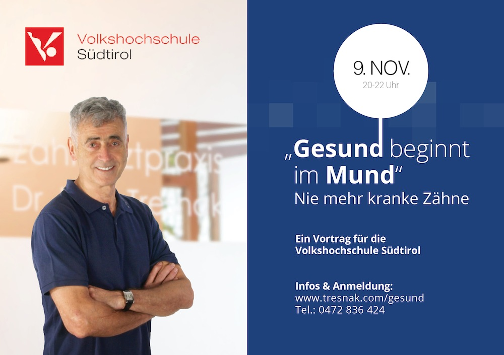 gesund-beginnt-im-mund - Vortrag Dr. Tresnak Bruneck